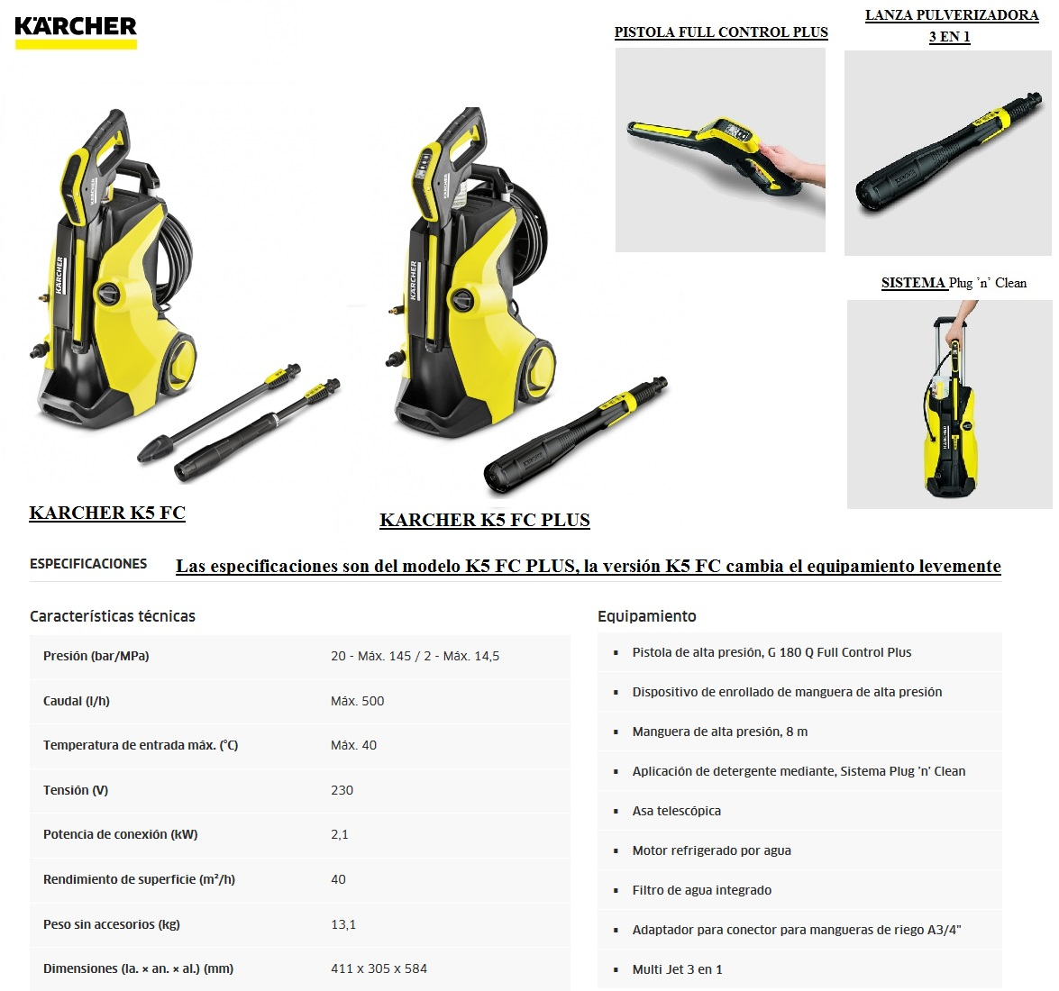 Karcher k5 full control comparativa