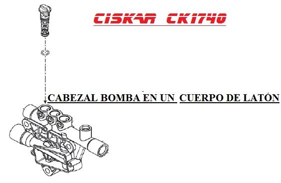 cabezal bomba ck1740